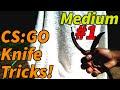 [Medium] CS:GO butterfly knife |Trick #1 Finger Twirl
