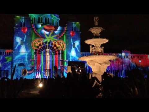 Royal Exhibition Building- Carlton Gardens - Melbourne White Night 2017 (HD)