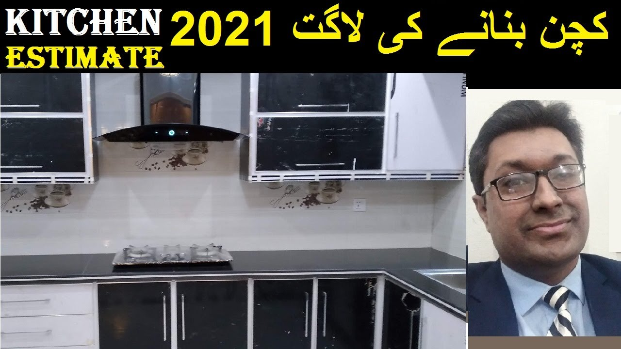 kitchen cost in Pakistan 20   Latest Black Marble Design with Accessories