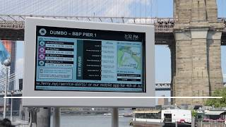 Transit Displays for NYC Ferry Landings