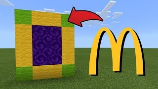 How To Make a Portal to the McDonald Dimension in MCPE (Minecraft PE)