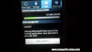 Simple RAM tweak for Samsung Galaxy Y