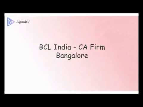 Chartered Accountants in Bangalore - BCL India