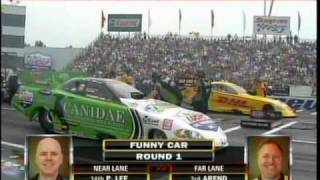 Jeff Arend Paul Lee Eliminations Top Fuel Funny Car Lucas Oil Deep Clean Super Nationals Old Bridge TWP Raceway Park EnglishTown NJ  2010