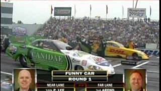 Jeff Arend Paul Lee Eliminations Top Fuel Funny Car Lucas Oil Deep Clean Super Nationals Old Bridge TWP Raceway Park EnglishTown NJ  2010