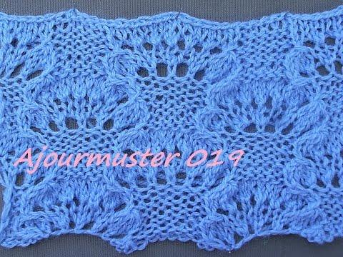 Ajourmuster 019*Muster Stricken*Muster für Pullover*Mütze*Tutorial Handarbeit Kreativ