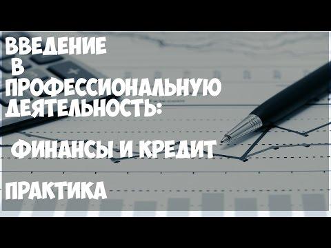 Введение в профессиональную деятельность.  Финансы и кредит. Практика.