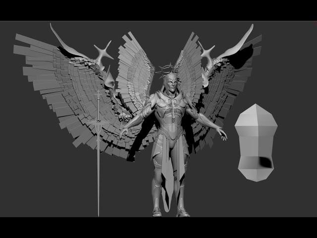 доделываем блокинг ангелу