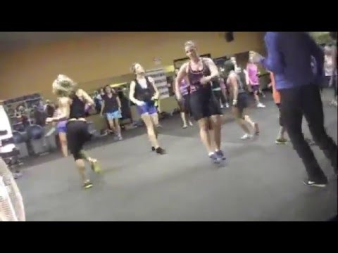 Laurie has Fever at Zumba with Crissy by Wisin y yandel