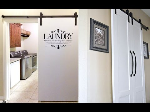 Laundry Room Barn Door Ideas - YouTube