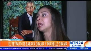 Museo Smithsonian develó los retratos del expresidente estadounidense Barack Obama y su esposa