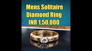 Mens Solitaire Ring With D Color Diamond Under INR 1,50,000 HOSHIARPUR #PUNJAB