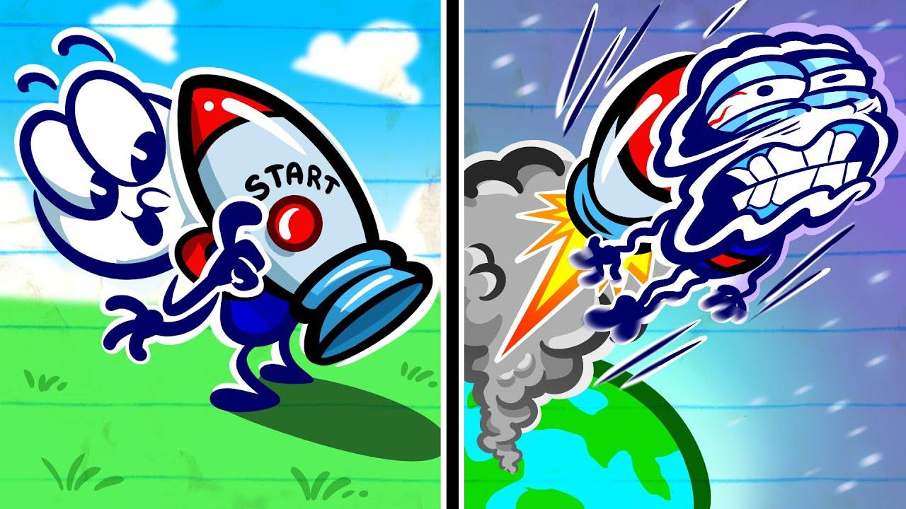 """I'm Leavin' On A Jetpack"" | Animation | Cartoons | Pencilmation"