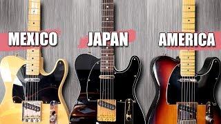 Mexican vs Japanese vs American! - Telecaster Tone Test!