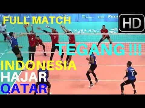 FULL MATCH   TEGAAANG!!!  INDONESIA HAJAR QATAR   Kejuaraan Voli Asia 28 Juli 2017 FULL HD
