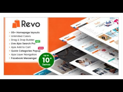 Revo - Creative Multi-Purpose Responsive Shopify Drag & Drop   Themeforest  Download