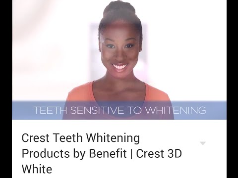 My 1st Commercial!! Crest Teeth Whitening Products by Benefit Crest 3D White