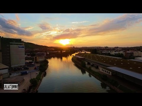 Amazing Drone flight | Industrial River Port discovered with Phantom 3
