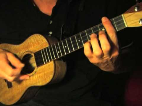 Fingerpicking Blues Ukulele - I Get The  Blues When It Rains