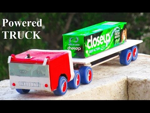 How to make a Battery Powered Truck - Easy Way  - With Container - how to make a truck