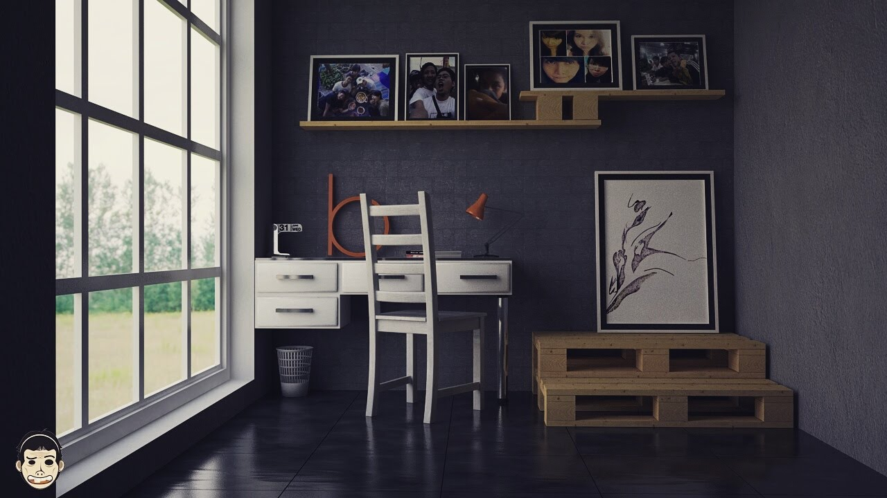 cinema4d and vray tutorial basic setting for interior youtube. Black Bedroom Furniture Sets. Home Design Ideas
