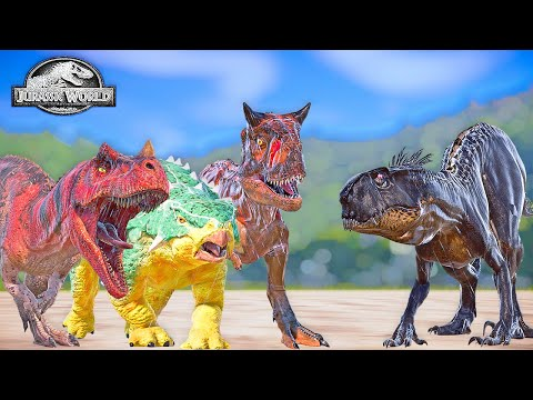 E750 Scorpius Rex VS Camp Cretaceous Dinosaurs, Bumpy, Toro, Grim Mod, Jurassic World Evolution |