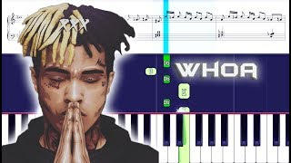 XXXTENTACION - whoa mind in awe Piano With Sheets SKINS