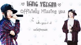 Karaoke Thaisub  Ly Missing You - Bang Yedam
