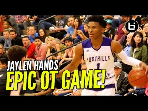 Jaylen Hands Last High School Game! Epic OT Game Full Highlights