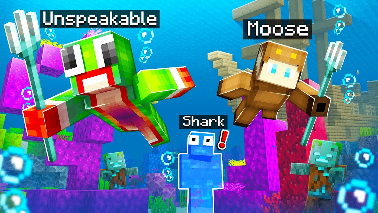 Hiding As A FISH In MINECRAFT Hide And SEEK!