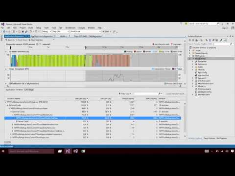 XAML - Application Timeline Tool in Visual Studio 2015