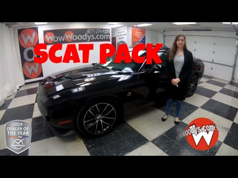 2018 Dodge Challenger R/T Scat Pack 18HC95 Review | Video Walkaround | Cars for sale at WowWoodys
