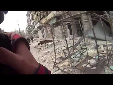 RAW Helmcam footage Aleppo - The Unknown Photographer