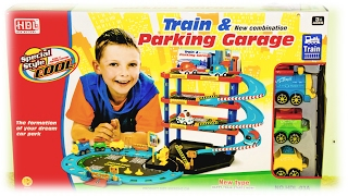 "Video For Children  - ""train & Parking Garage"" New Combination Playset With Cars & Trains"