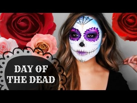 Day Of The Dead Sugar Skull Makeup Tutorial Diana Quach Youtube