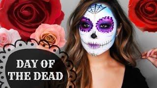 Day of the Dead Sugar Skull Makeup Tutorial | Diana Quach