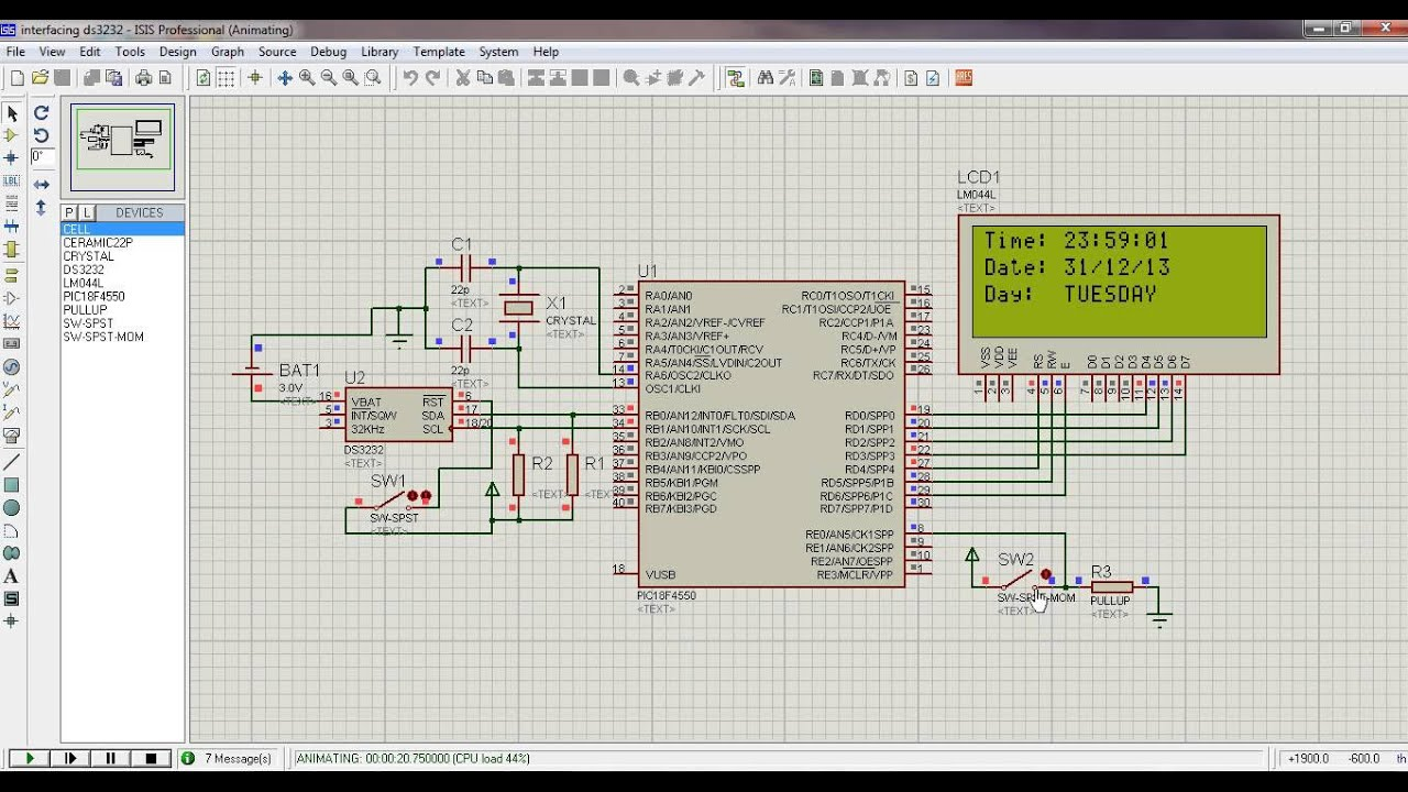 Watch on a c circuit diagram