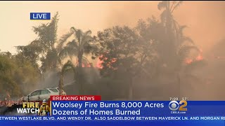Woolsey Fire Rips Through Thousand Oaks Neighborhoods