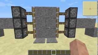 Minecraft RedStone Dersleri Bölüm 1 Otomatik Kapı Sistemi