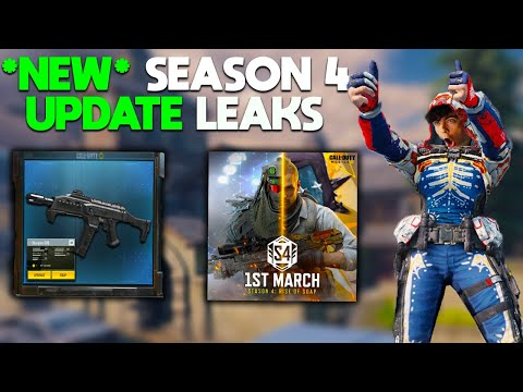 *NEW* ALL SEASON 4 UPDATE LEAKS! NEW WEAPONS, NEW SKINS, NEW MAPS + MORE In COD Mobile!