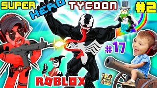 WHO PEE'D IN DEADPOOL? ROBLOX Superhero Tycoon Magic, Kill Quests & Boss Spawns FGTEEV #17