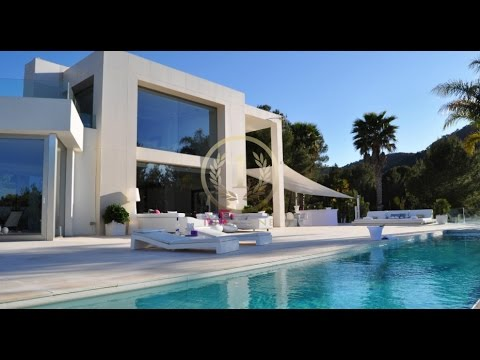 Fantastic modern new villa on ibiza luxury villas ibiza youtube