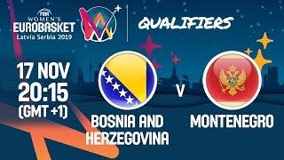 LIVE 🔴 - Bosnia and Herzegovina v Montenegro - FIBA Women