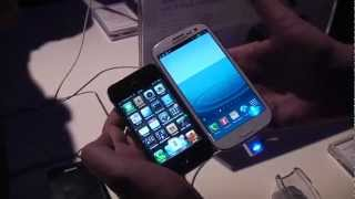 samsung galaxy s3 vs apple iphone 4s hands on and comparison