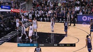 3rd Quarter, One Box Video: San Antonio Spurs vs. Minnesota Timberwolves