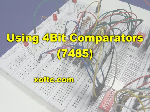How To Use 4bit Comparators 7485 Youtube