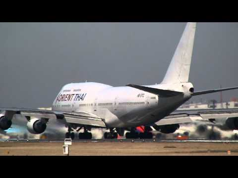 Orient Thai Airlines Boeing 747-412 HS-STC Take off at Narita
