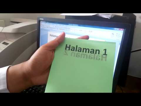 Tutorial 2-sided printing epson L1800 - BOOKLET PRINTING