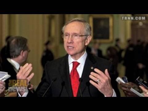 Reid gives up public option?