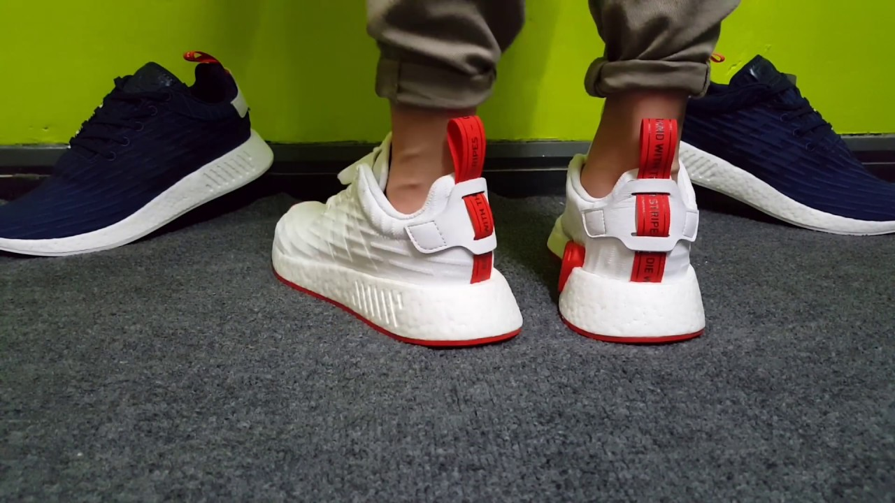 d00b41375344b Adidas NMD R2 PK (Core red  White) - Review+On feet - YouTube